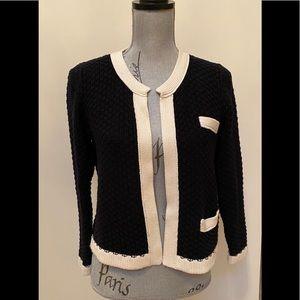Dex brand black and cream cardigan